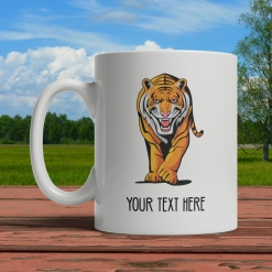Tiger Personalized Mug Front