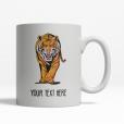 Tiger Personalized Mug Back