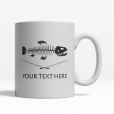 Trout Personalized Mug Back