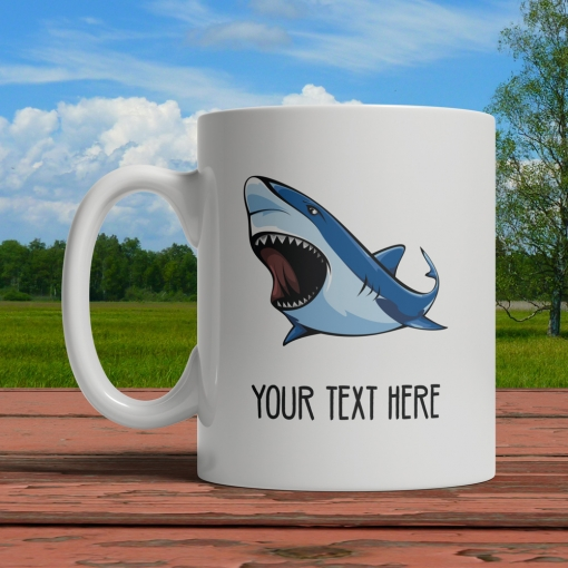 Shark Personalized Mug Front