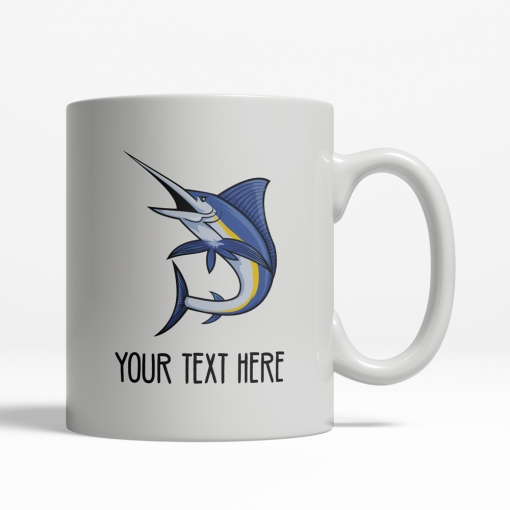 Marlin Personalized Mug Back