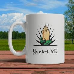 Praying Hands Personalized Mug Front