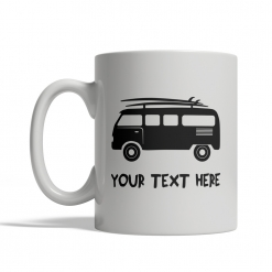 Surfing Van Personalized Mug