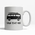 Surfing Van Personalized Mug Front