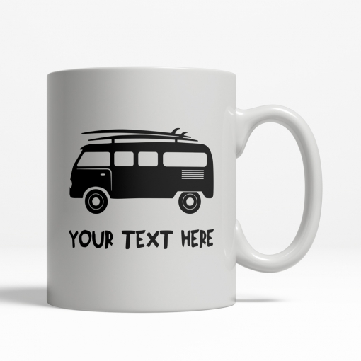Surfing Van Personalized Mug Front