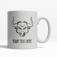 Angry Bull Personalized Mug Back