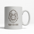 Angry Gorilla Personalized Mug Back