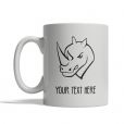 Rhino Head Personalized Mug