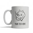 Rhino Head Personalized Mug