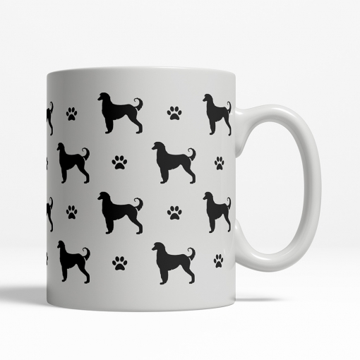 Afghan Hound Silhouette Coffee Cup