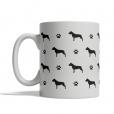 American Staffordshire Terrier Silhouettes Mug