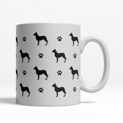 Australian Kelpie Silhouette Coffee Cup