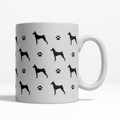 Basenji Silhouette Coffee Cup