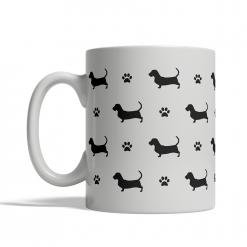 Basset Hound Silhouettes Mug