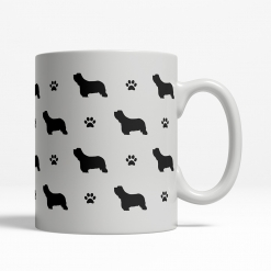 Bearded Collie Silhouette Coffee Cup