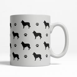 Belgian Shepherd Silhouette Coffee Cup