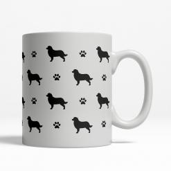 Bernese Mountain Dog Silhouette Coffee Cup