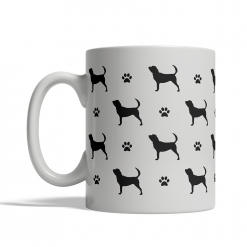 Bloodhound Silhouettes Mug