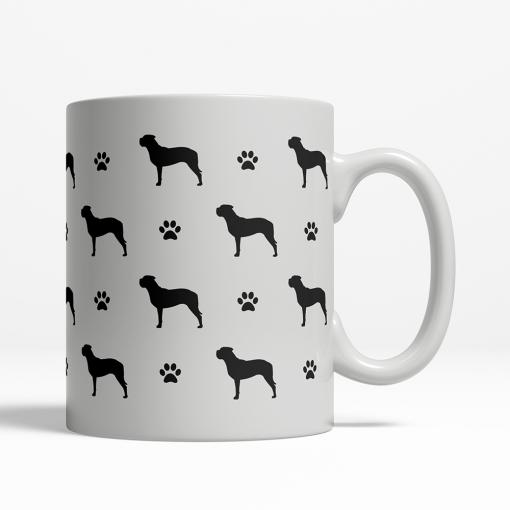 Bullmastiff Silhouette Coffee Cup