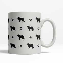 Caucasian Shepherd Silhouette Coffee Cup