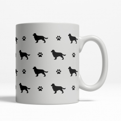 Cavalier King Charles Spaniel Silhouette Coffee Cup