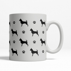 Chihuahua Silhouette Coffee Cup
