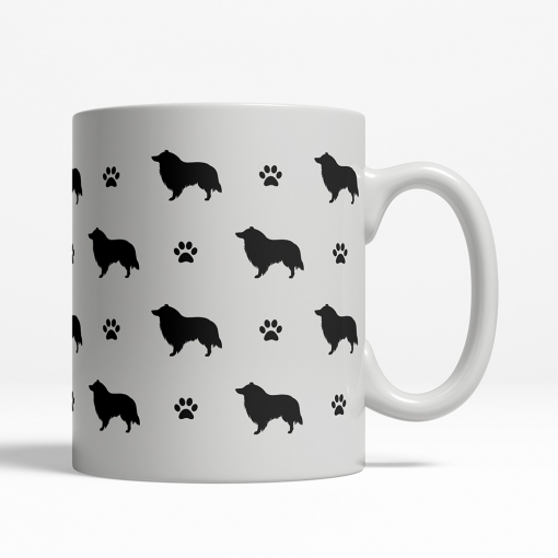 Collie Silhouette Coffee Cup