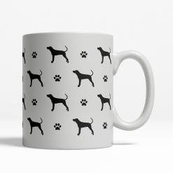 Coonhound Silhouette Coffee Cup