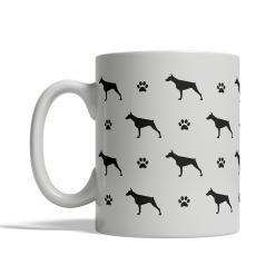 Doberman Silhouettes Mug