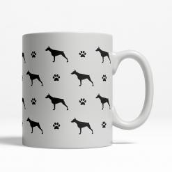 Doberman Silhouette Coffee Cup