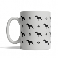 German Wirehaired Pointer Silhouettes Mug