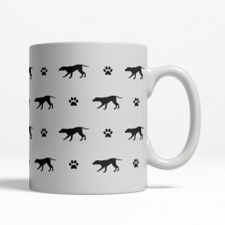 German Pointer Silhouette Coffee Cup
