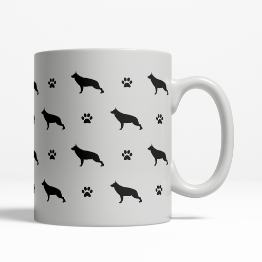 German Shepherd Silhouette Coffee Cup