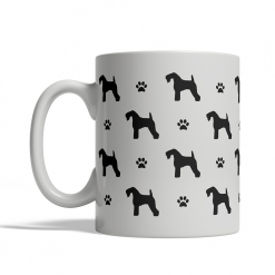 Kerry Blue Terrier Silhouettes Mug