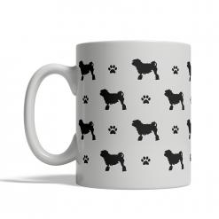 Little Lion Dog Silhouettes Mug