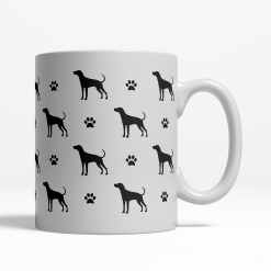 Plott Hound Silhouette Coffee Cup