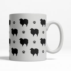 Pomeranian Silhouette Coffee Cup