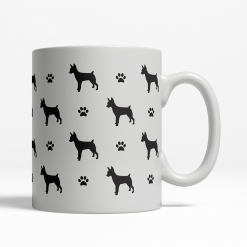 Rat Terrier Silhouette Coffee Cup