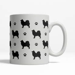 Samoyed Silhouette Coffee Cup