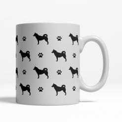 Siberian Husky Silhouette Coffee Cup
