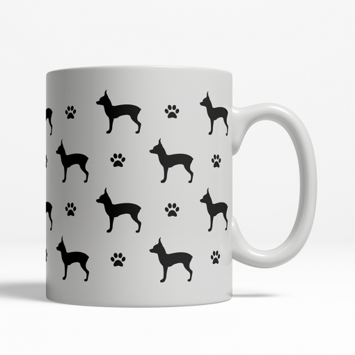 Toy Terrier Silhouette Coffee Cup