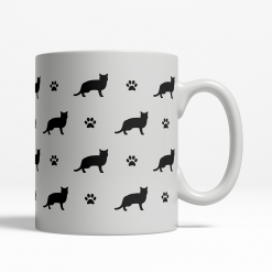 American Shorthair Silhouette Coffee Cup