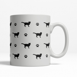 British Shorthair Silhouette Coffee Cup