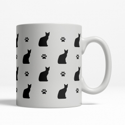 Egyptian Mau Silhouette Coffee Cup