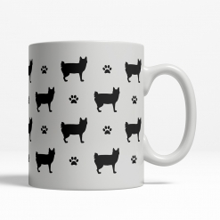 Japanese Bobtail Silhouette Coffee Cup