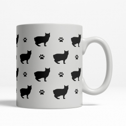 Manx Silhouette Coffee Cup