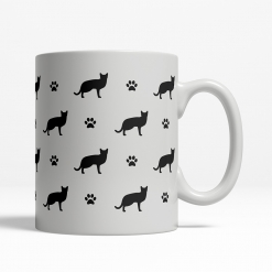 Russian Blue Silhouette Coffee Cup