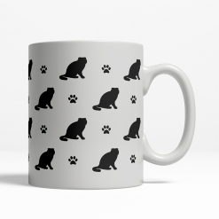 Scottish Fold Silhouette Coffee Cup