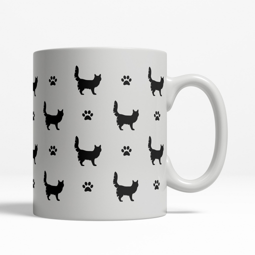 Turkish Angora Silhouette Coffee Cup