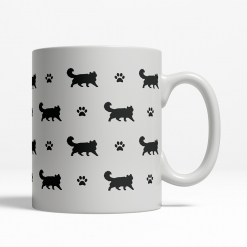 American Curl Silhouette Coffee Cup